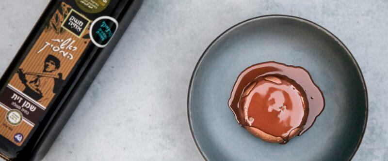 פונדנט שוקולד שמן זית (פרווה)